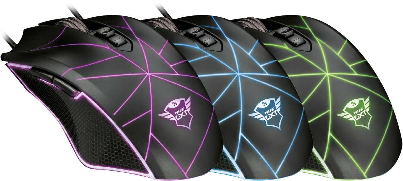 Trust GXT 160 Ture Illuminated Gaming Mouse podświetlenie