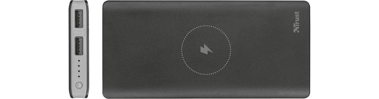 Trust Primo Wireless 8000 mAh Złącza 2xUSB