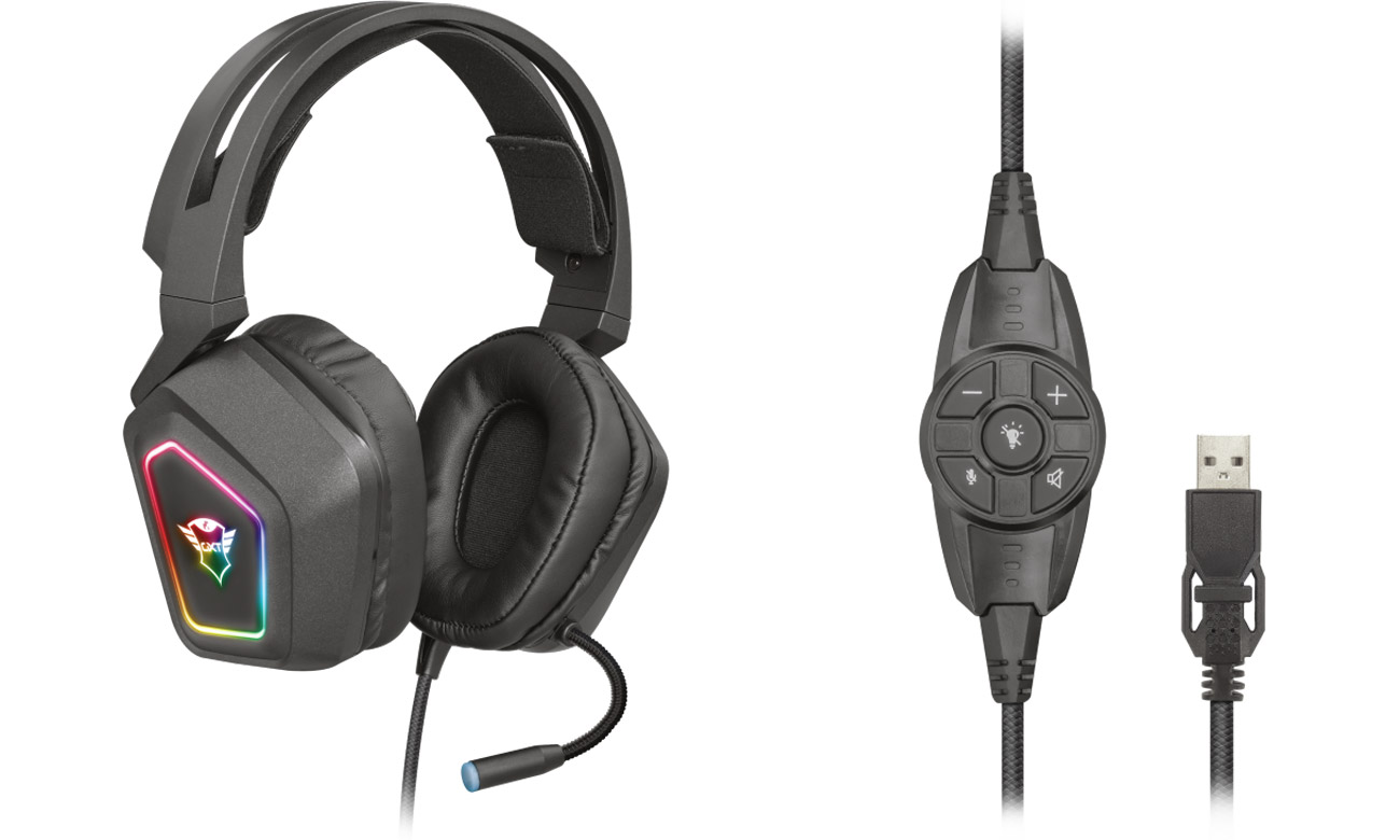 Zestaw słuchawkowy Trust GXT 450 Blizz RGB 7.1
