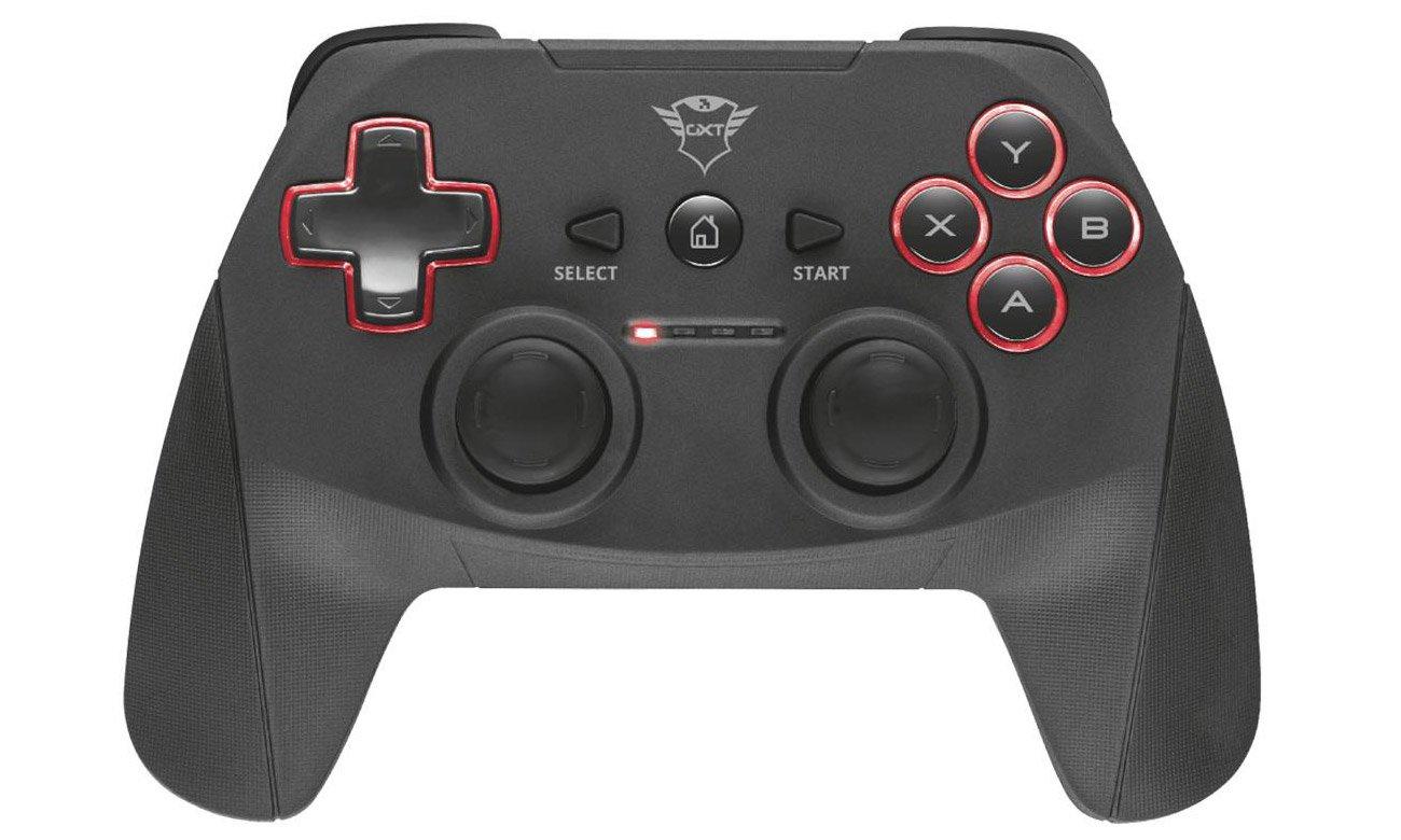 Trust GXT 545 Yula Wireless Gamepad Wszystkie niezbędne przyciski, Diody sygnalizacyjne