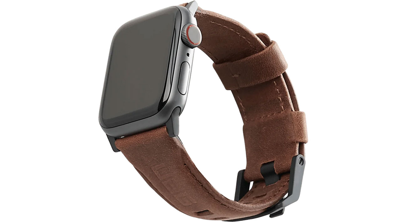 UAG Pasek Skórzany do Apple Watch 42/44 mm Brown 19148B114080