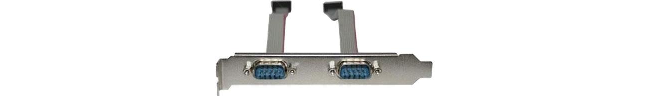 Unitek Śledź z 2 portami RS-232 2S BRACKET