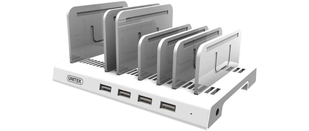 Unitek Stacja ładująca 4x USB 2.4A 36W Y-2187A