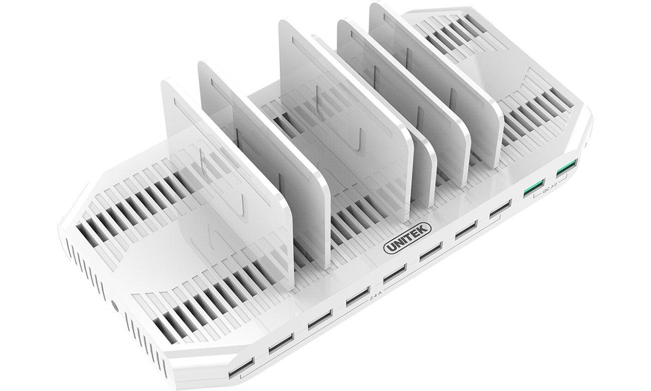 Unitek Stacja Ładująca 10x USB z QC 3.0 Y-2190A