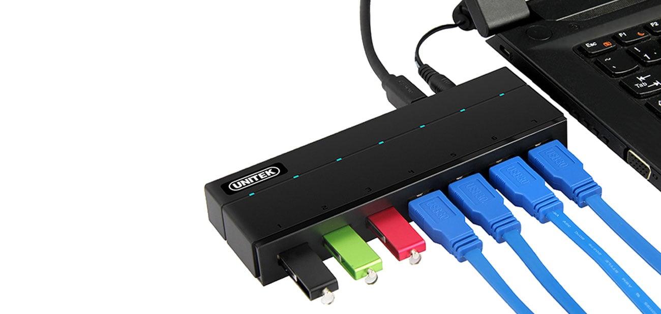 Hub USB Unitek Y-3184 Korzystanie z huba