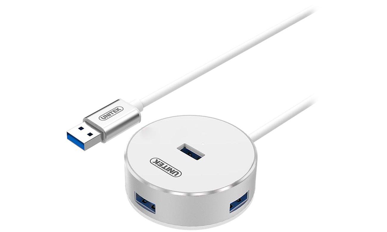 Unitek Aluminiowy HUB USB 4 x USB 3.0 srebrny Y-3197