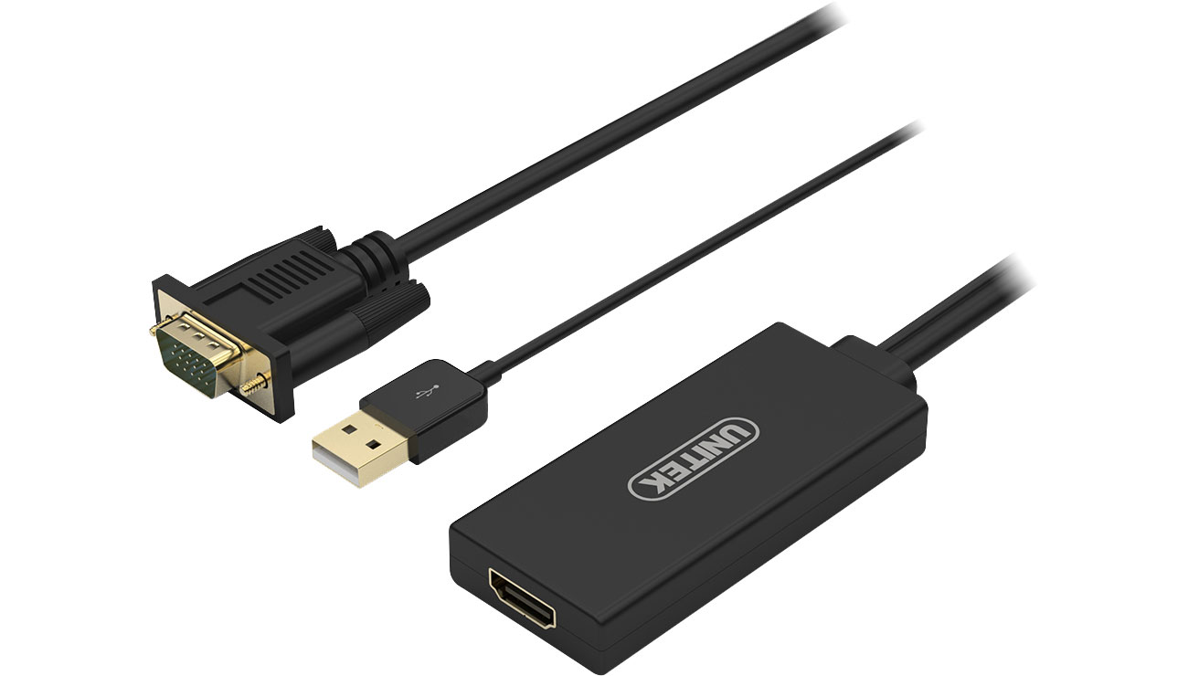 Unitek Adapter VGA do HDMI + Audio Y-8711