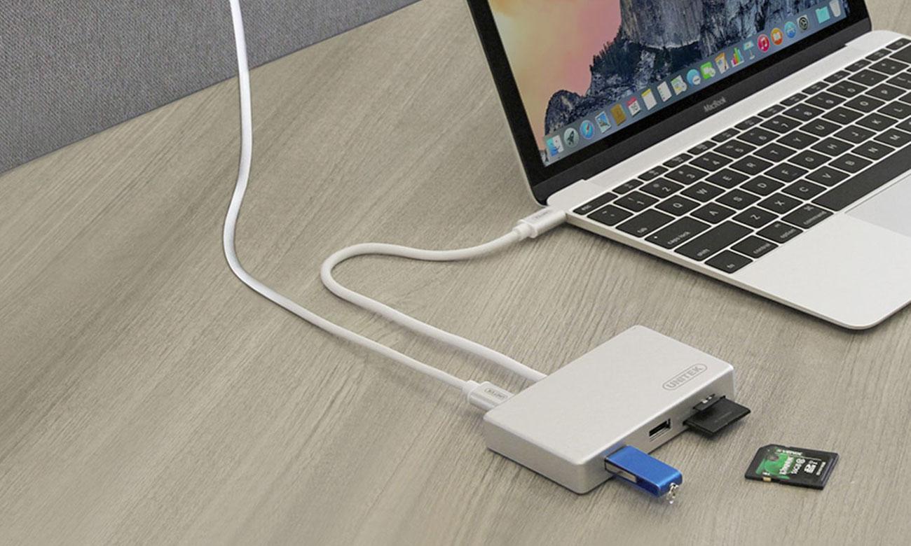 Unitek Y-9319 Hub USB i czytnik kart