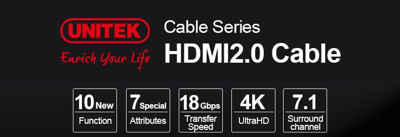 Unitek przewód LUX HDMI 2.0