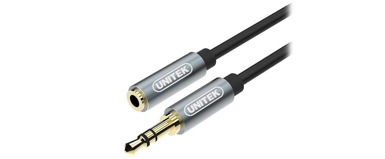 Kabel audio Unitek Przedłużacz jack 3,5 mm 1m Y-C932ABK