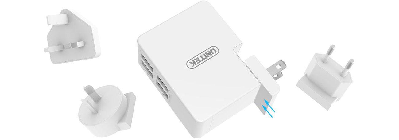 Unitek Ładowarka sieciowa 4 x USB 2,4A 48 W Y-PW10001