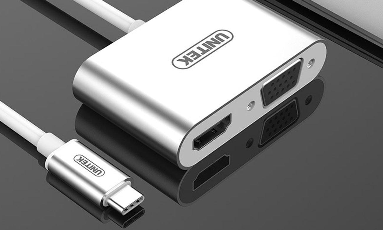 Unitek Adapter USB-C na HDMI / VGA Y-V100
