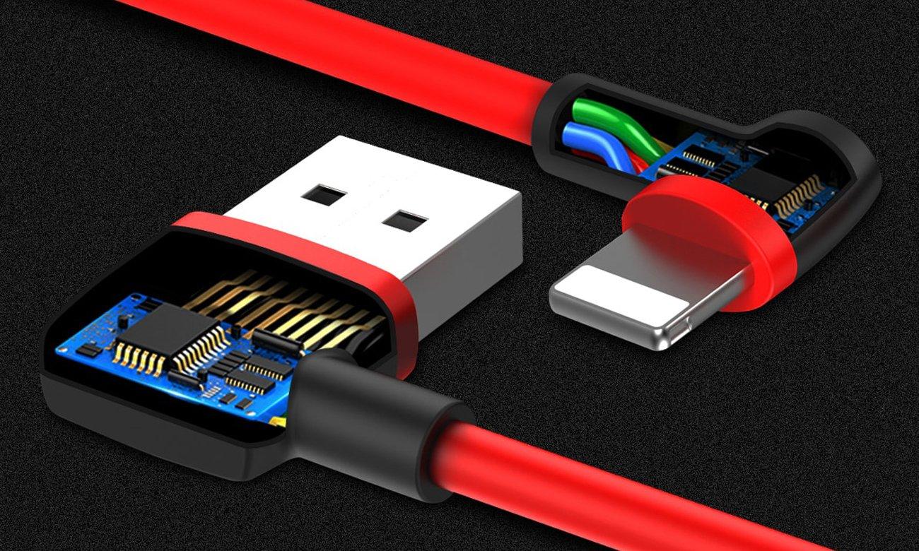 Kątowy kabel Unitek USB-Lightning Wysoka wytrzymałość, jakość i niezawodność