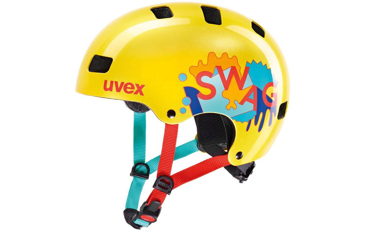 Kask ochronny UVEX Kid 3 55-58 cm Żółty