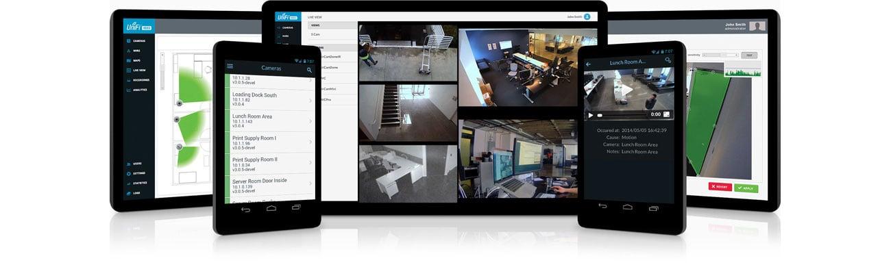 Intuicyjne oprogramowanie UniFi Video