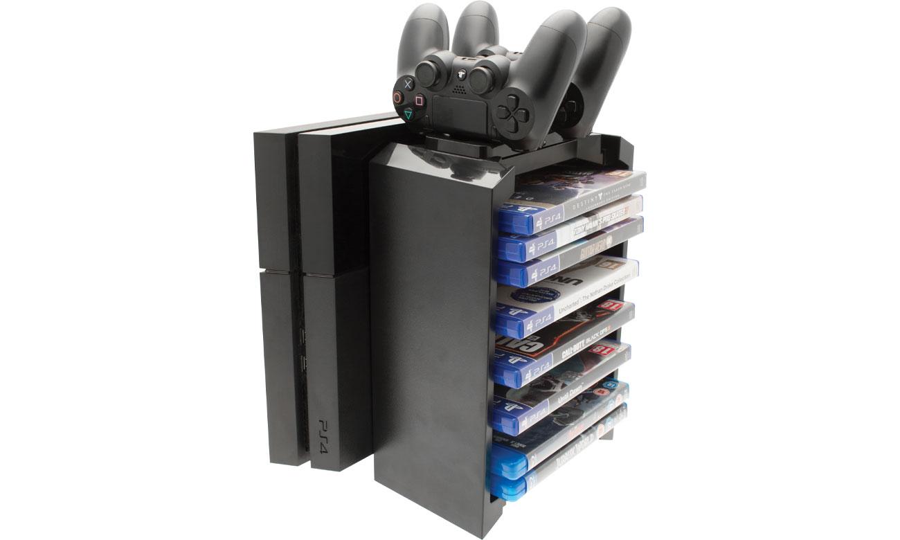 Wieża do przechowywania gier i stacja dokująca dla PS4 Venom VS2736