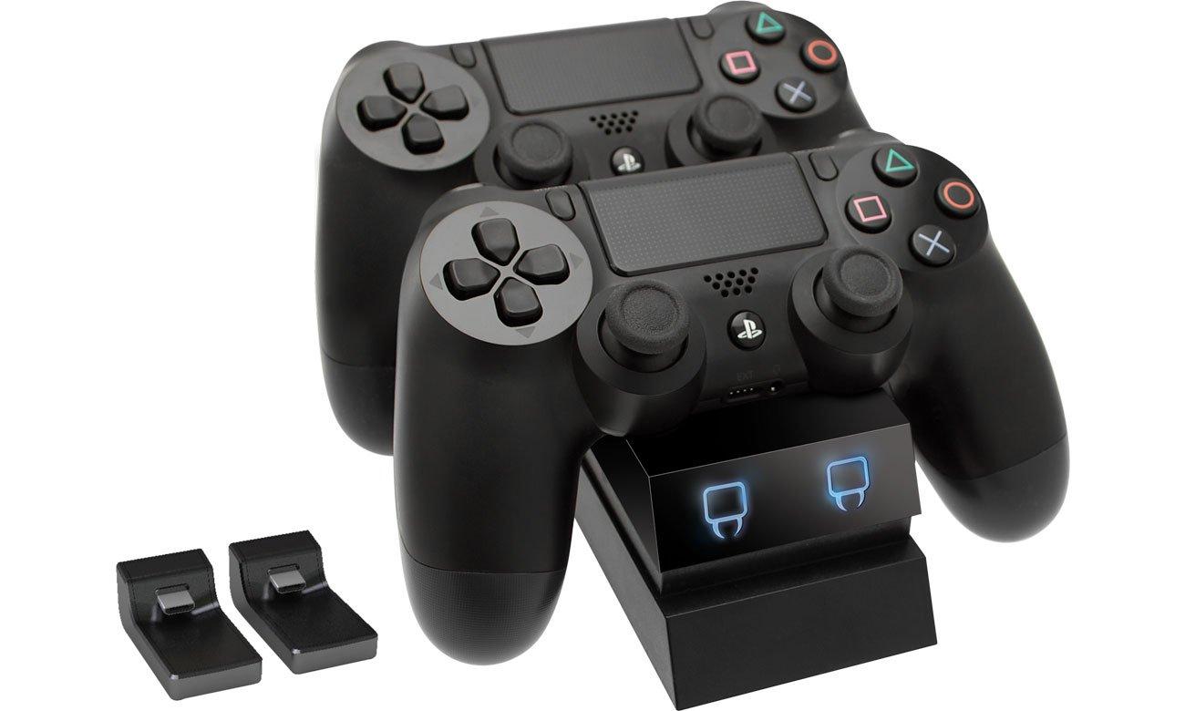 Podwójna stacja dokująca dla padów PS4 Venom Twin Docking Station Czarna