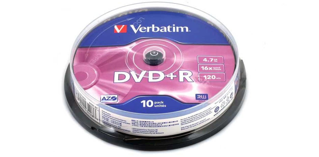 Płyta DVD+R Verbatim 4.7GB 16x AZO