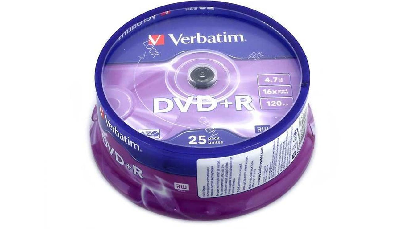 Płyta DVD+R Verbatim 4.7GB 16x AZO 25 sztuk