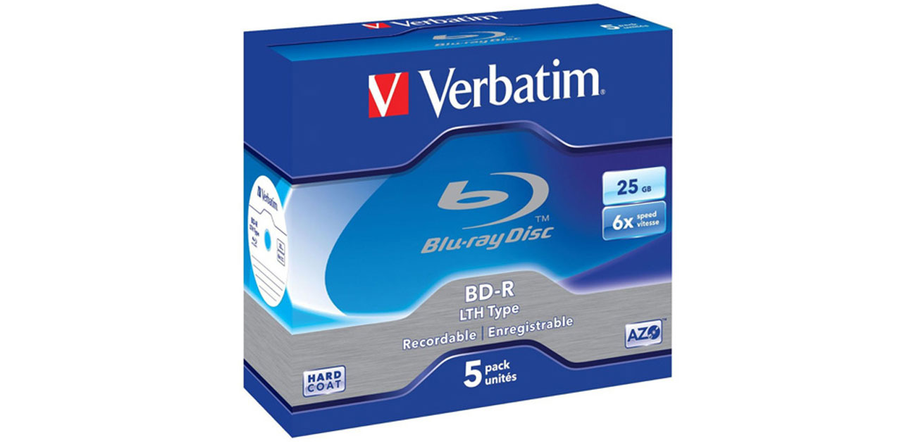 Płyta BD-R Verbatim 25GB 6x BluRay Box 5szt LTH HARD COAT 43753