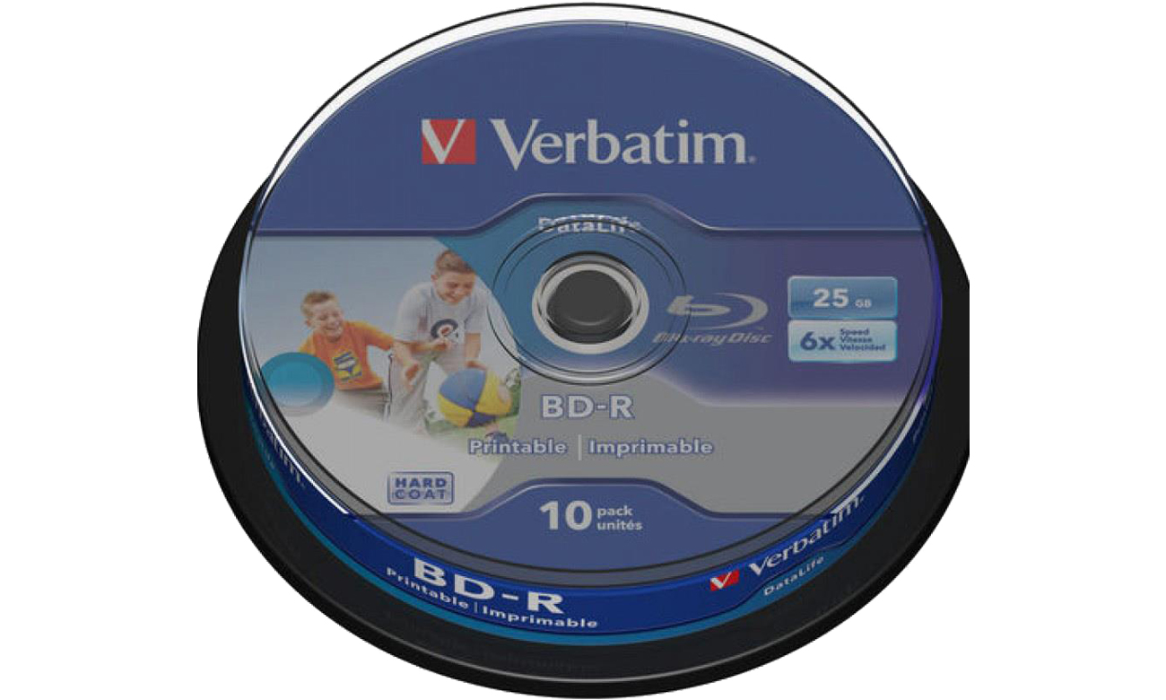 Płyta BD-R Verbatim 25GB X6 PRINTABLE DATALIFE (CAKE 10 szt ) 43804