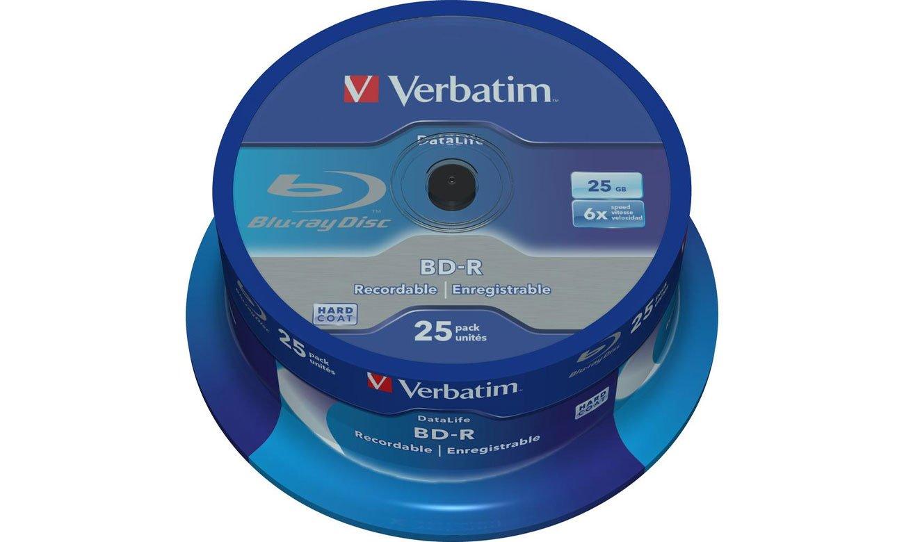 Płyta BD-R Verbatim BluRay 6x 25GB DataLife cake 25 szt. 43837