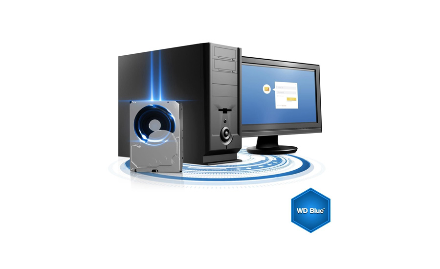 Die NoTouch-Rampenladetechnologie der Festpaltte WD HDD Blue 3,5 Zoll 4.0 TB 5400 64MB SATA