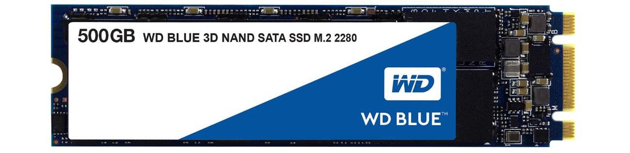 Dysk SSD 500GB WD Blue SSD M.2 2280 3D NAND WDS500G2B0B