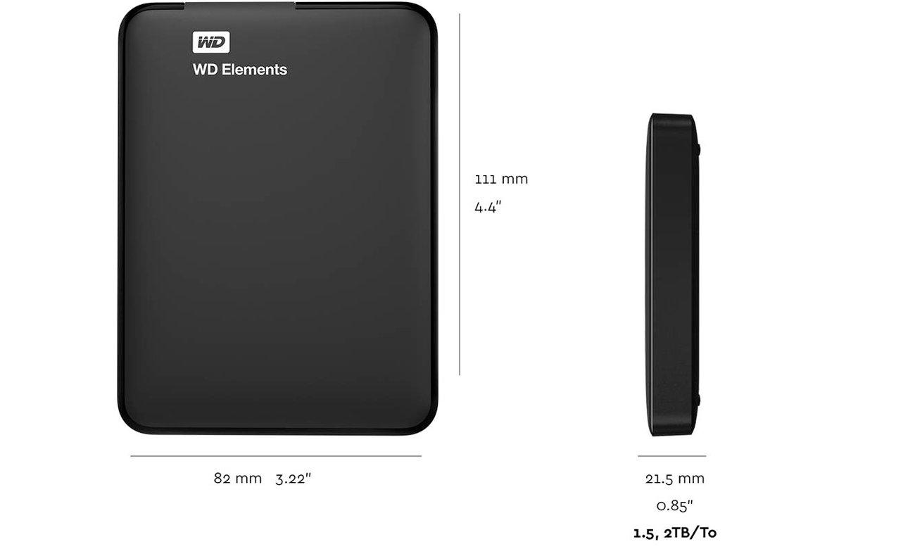 WD Elements Portable Interfejs USB 3.0