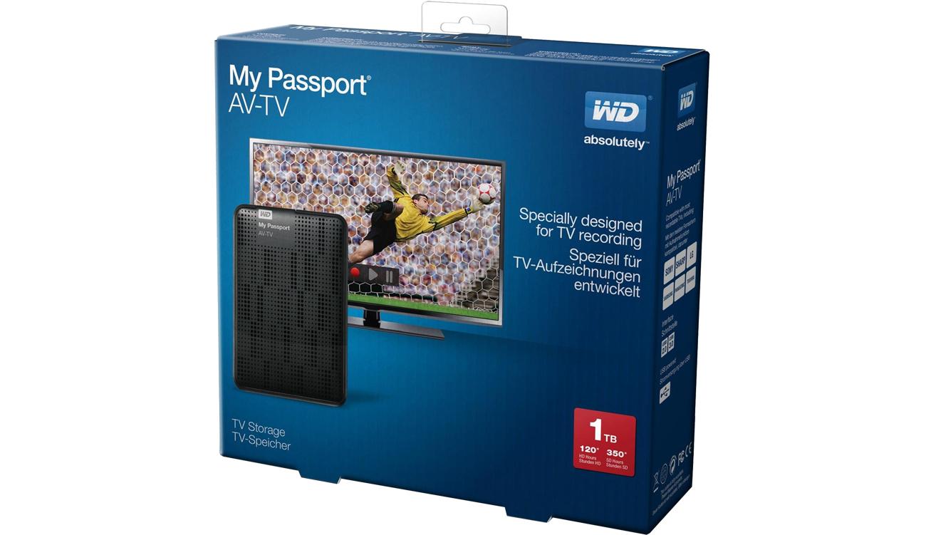 WD My Passport AV-TV - jednoczesne nagrywanie i odtwarzanie