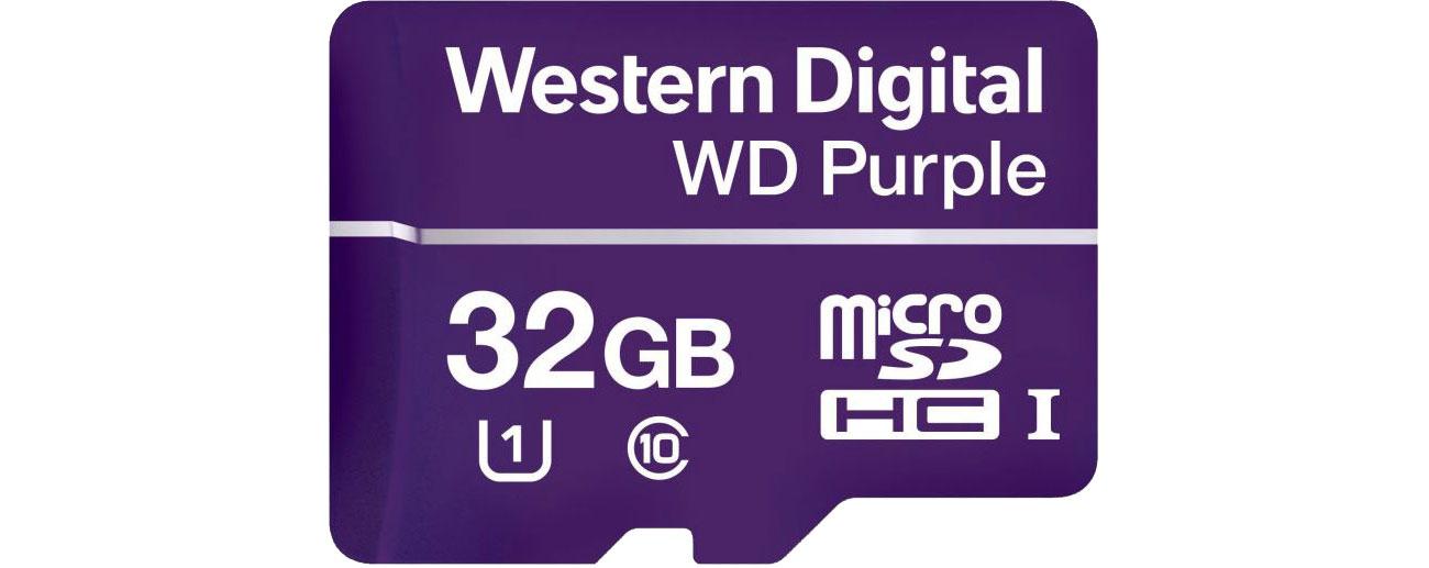 Karta pamięci WD 32GB Purple microSDXC Class 10 UHS-I WDD032G1P0A