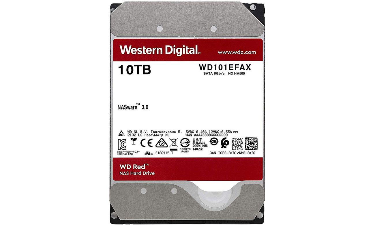 Dysk HDD WD RED 10TB 5400obr. 256MB WD101EFAX