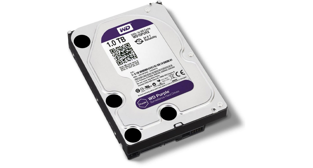 Dysk SATA III WD 1TB PURPLE WD10PURX pamięc masowa monitoring