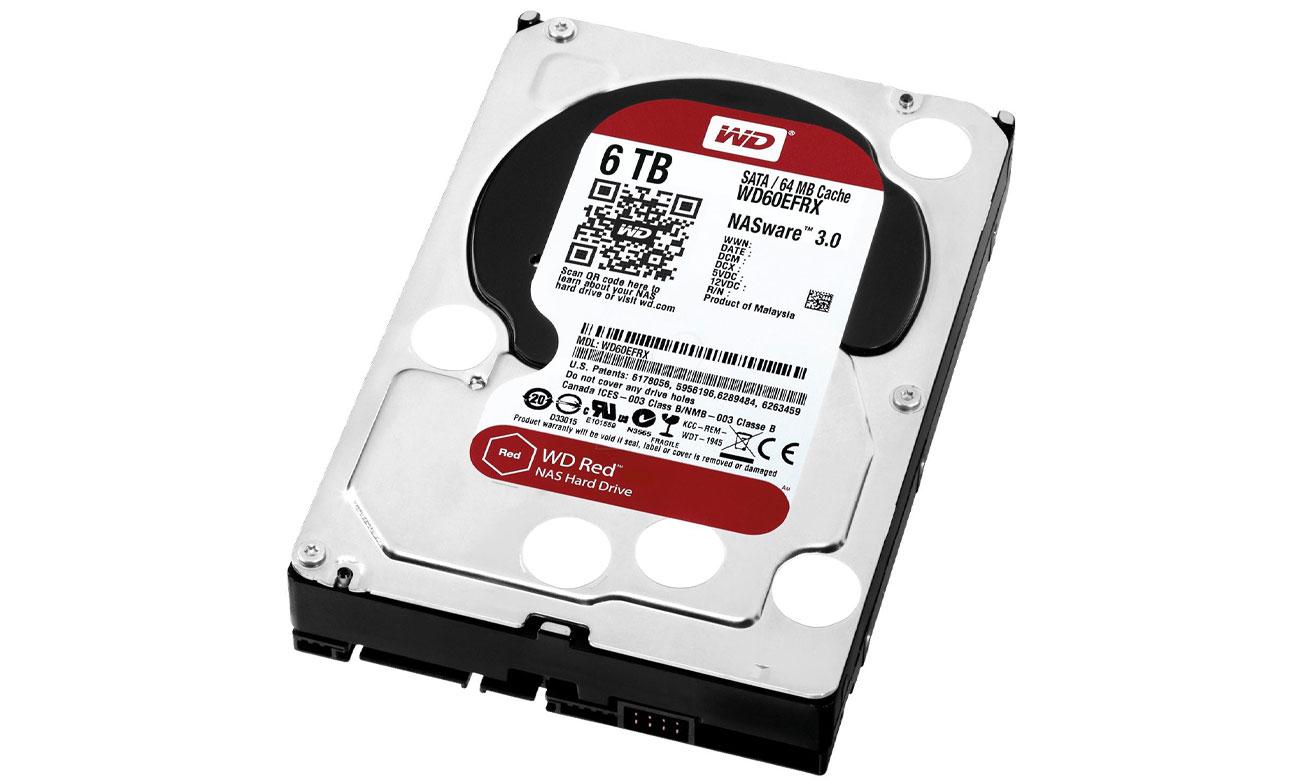 WD 6TB IntelliPower 64MB RED dla małych i średnich firm