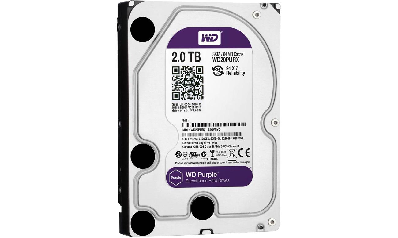 WD 2TB IntelliPower 64MB PURPLE WD20PURX