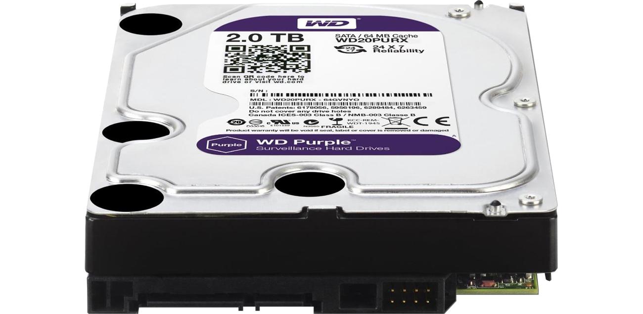 WD 2TB IntelliPower 64MB PURPLE złącza