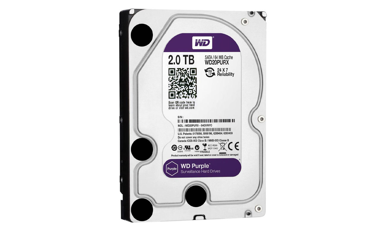 WD 2TB IntelliPower 64MB PURPLE idealne dyski do monitoringu pojemność 6tb