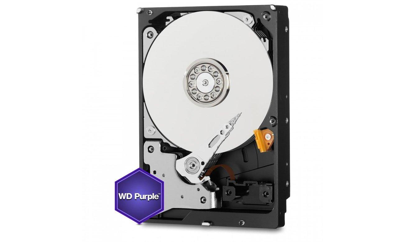 WD 2TB IntelliPower 64MB PURPLE zgodność z różnymi systemami zabezpieczeń