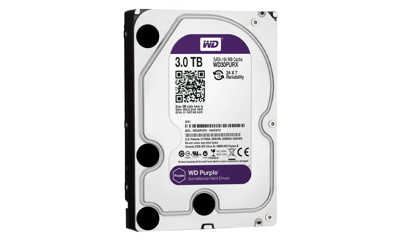 WD 3TB IntelliPower 64MB PURPLE idealne dyski do monitoringu pojemność 6tb