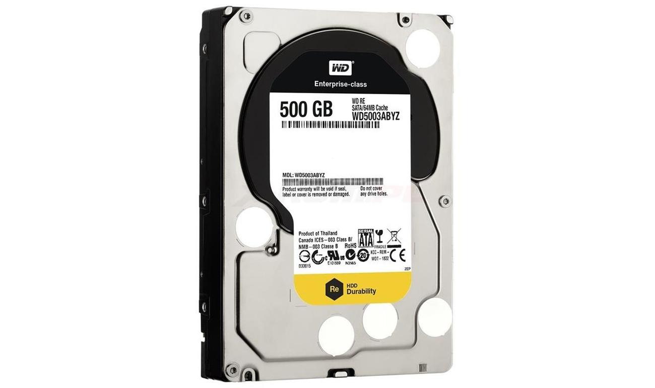 Dysk twardy SATA III WD 500GB 7200obr. 64MB RE