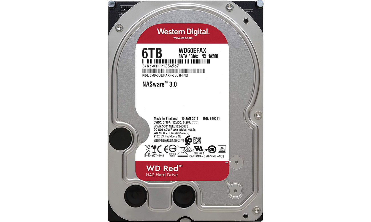 WD 6TB IntelliPower 64MB RED technologia NASware 3.0