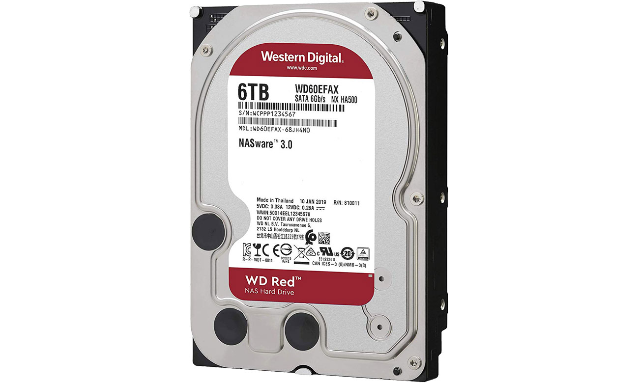 WD 6TB IntelliPower 64MB RED dla małych i średnich firm