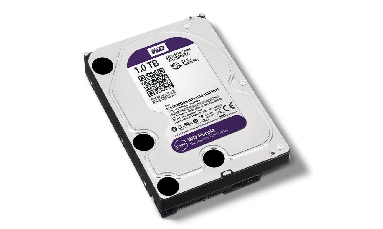WD 1TB IntelliPower 64MB PURPLE obniżone zużycie energii technologia intelliseek