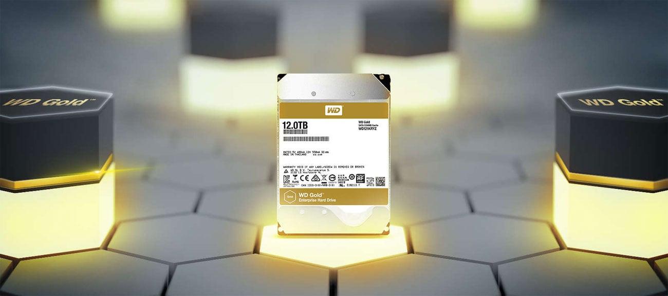 Dysk HDD WD 8TB 7200obr. 256MB GOLD WD8003FRYZ