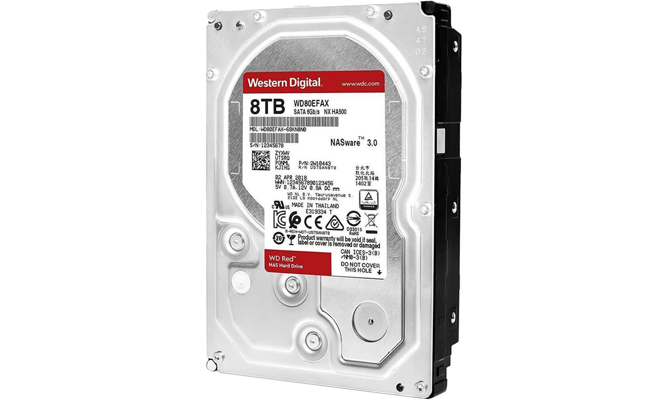 Dysk HDD WD 8TB 256MB Red NAS WD80EFAX
