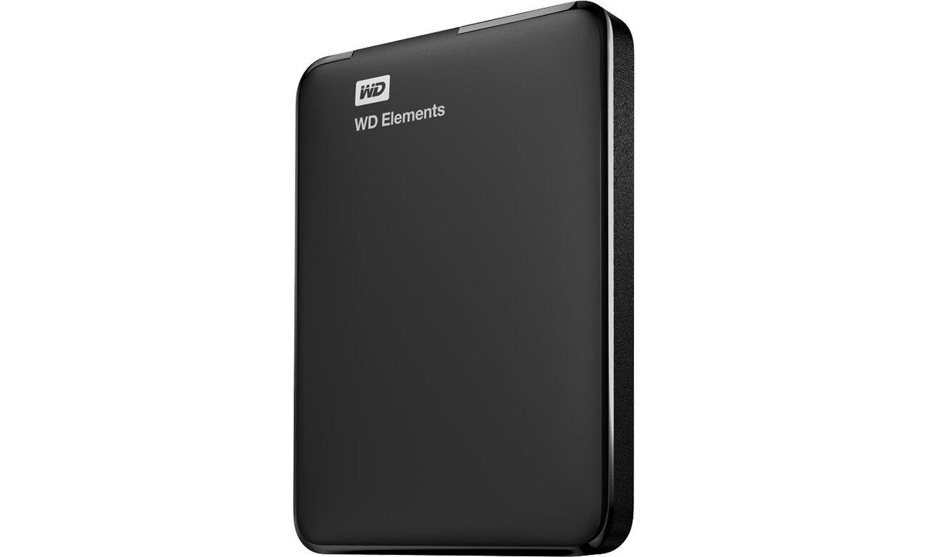 WD Elements Portable 3TB czarny widok z boku
