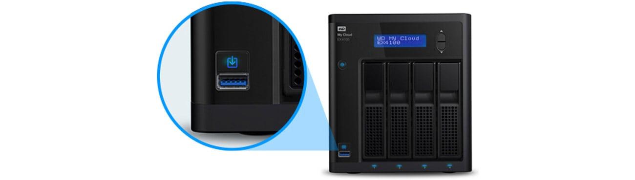 Dysk/macierz sieciowa WD My Cloud EX4100 - autoamtyczne kopiowanie z USB