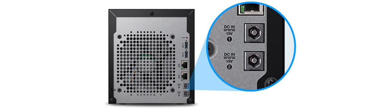Dysk/macierz sieciowa WD My Cloud EX4100 - dwa porty zasilania