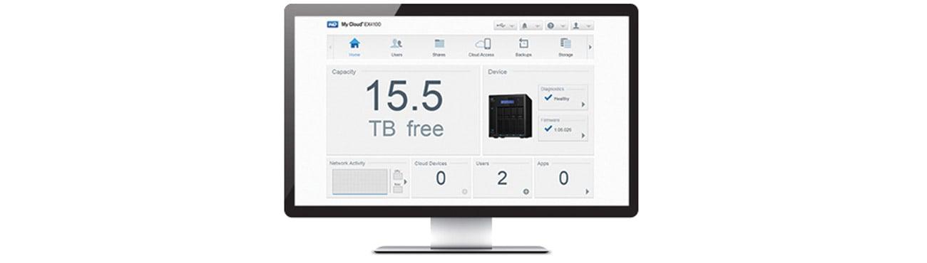 Dysk/macierz sieciowa WD My Cloud EX4100 - intuicyjby interfejs