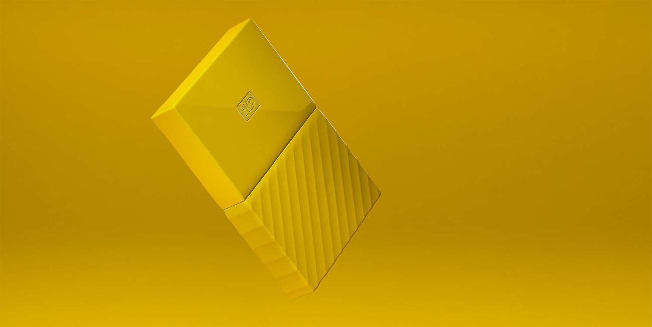 WD My Passport 4TB żółty USB 3.0  Ochrona Hasłem